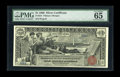Large Size:Silver Certificates, Fr. 224 $1 1896 Silver Certificate PMG Gem Uncirculated 65 EPQ. Wewere privileged to handle this note in our January 2006 A...