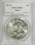 Eisenhower Dollars: , 1971-S $1 Silver MS67 PCGS. NGC Census: (67/1). Mintage: 2,600,000. Numismedia Wsl. Price for NGC/PC...
