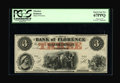 Obsoletes By State:Nebraska, Florence, NE- The Bank of Florence $3 18XX G6a. This well inked piece is graded Superb Gem New 67PPQ by PCGS....