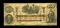 "Confederate Notes:1862 Issues, CT41/316A Counterfeit $100 1862. An interesting counterfeit withthe seldom-seen ""Counterfeit"" stamps across the face of the..."
