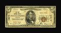National Bank Notes:Arkansas, Siloam Springs, AR - $5 1929 Ty. 1 The First NB Ch. # 13274. This is actually a considerably more difficult to obtain ba...
