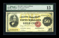 Large Size:Gold Certificates, Fr. 1193 $50 1882 Gold Certificate PMG Choice Fine 15. An unmolested, strictly original example that is perfect for the grad...