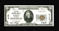 National Bank Notes:Colorado, Salida, CO - $20 1929 Ty. 1 The First NB Ch. # 4172. One of a pairof consecutively numbered high grade examples from th...