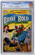 Silver Age (1956-1969):Adventure, The Brave and the Bold #8 (DC, 1956) CGC FN- 5.5 Off-white pages....