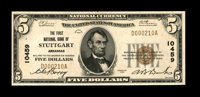 Stuttgart, AR - $5 1929 Ty. 1 The First NB Ch. # 10459 A high grade example from this by no means common bank, although...