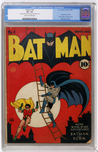 Batman #4 (DC, 1940) CGC VG- 3.5 Cream to off-white pages