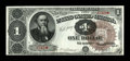 Large Size:Treasury Notes, Fr. 347 $1 1890 Treasury Note Very Choice New. Low serial number 749 adorns this delightful Stanton with an Ornate Back desi...