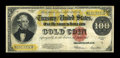 Large Size:Gold Certificates, Fr. 1215 $100 1922 Gold Certificate Fine. This $100 Gold has nicecolor for the grade while the edges show some tiny nicks. ...