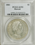 Coins of Hawaii: , 1883 $1 Hawaii Dollar AU53 PCGS. PCGS Population (22/146). NGCCensus: (11/123). Mintage: 500,000. (#10995)...