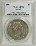 Coins of Hawaii: , 1883 $1 Hawaii Dollar AU50 PCGS. PCGS Population (48/168). NGC Census: (18/134). Mintage: 500,000. (#10995)...