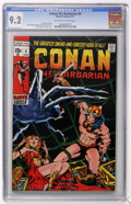 Bronze Age (1970-1979):Superhero, Conan the Barbarian #4 (Marvel, 1971) CGC NM- 9.2 Off-white to white pages....