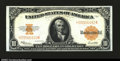 Large Size:Gold Certificates, Fr. 1173 $10 1922 Gold Certificate Gem New. A nice example ...