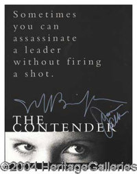 The Contender - Rare official Hollywood World Premiere program boldly signed on the cover by stars Jeff Bridges and Joan...