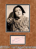 Autographs, Jane Darwell (Grapes of Wrath)