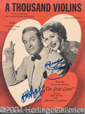 Autographs, Bob Hope & Rhonda Fleming