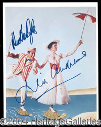 Mary Poppins - Wonderful 8 x 10 color photograph featuring Julie Andrews and Dick Van Dyke during a scene from the belov...