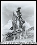 Autographs, Clayton Moore