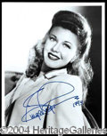 Autographs, Ginger Rogers