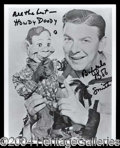 Autographs, Buffalo Bob Smith¿and Howdy Doody!
