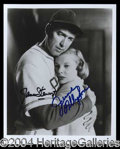 Autographs, James Stewart & June Allyson