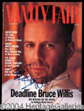 Autographs, Bruce Willis