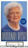 Autographs, Barbara Bush