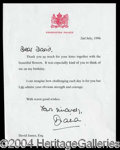 Autographs, Princess Diana