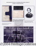 Autographs, Mary Surratt