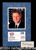 Autographs, Bill Clinton