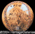 Autographs, Game Used Baseball from 1916!