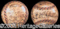 Autographs, 1939 Yankees/Reds World Series Signed Baseball