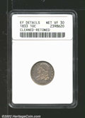 Bust Dimes: , 1833 10C VF30 ANACS. Mintage: 485,000. ...