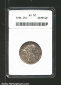 Standing Liberty Quarters: , 1926 25C AU50 ANACS. Mintage: 11,316,000. The latest Coin Worl...