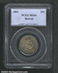 Coins of Hawaii: , 1883 25C Hawaii Quarter MS64 PCGS. Mintage: 500,000. ...