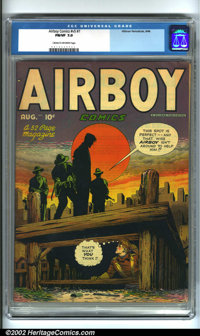 Airboy Comics Vol. 5 #7 (Hillman, 1948). Condition: CGC FN/VF 7.0, cream to off-white pages. Overstreet 2001 FN 6.0 valu...