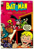 "Golden Age (1938-1955):Superhero, Batman #88 (DC, 1954). Condition: FR. 4"" rip in cover; cover split almost in two...."