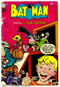 "Batman #88 (DC, 1954). Condition: FR. 4"" rip in cover; cover split almost in two"