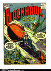 "Blackhawk #116 (DC, 1957). Condition VG- . The word ""buddy"" is written twice on the front cover"