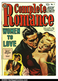Complete Romance #1 (Avon, 1949). Condition VG
