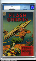 Golden Age (1938-1955):Science Fiction, Four Color Comics #204 (Dell, 1948). Flash Gordon. Condition: CGC VF+ 8.5, cream to off-white pages. Overstreet 2001 FN 6.0 ...