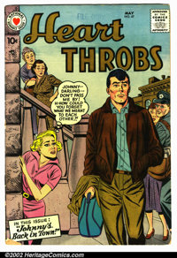 Heart Throbs #47 (Arleigh publishing company, 1957). Condition VG. Pin marking on top 1st page. Does not effect story...