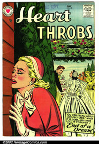 Heart Throbs #48 (Arleigh publishing company, 1957). Condition VG+ . Pen marking on top of 1st page. Does not effect sto...