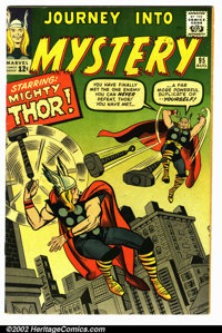 """Journey into Mystery #95 (Marvel, 1963). VG/FN. Small pin marking on the letter """"R"""" of front cover"""