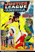 """Silver Age (1956-1969):Superhero, Justice League of America #23 (DC, 1963). Condition: GD. 3"""" tear in front cover...."""
