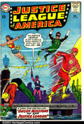Silver Age (1956-1969):Superhero, Justice League of America #24 (DC, 1963). Condition: VG-. Cover detached from top staple. Subscription crease....