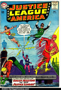 Justice League of America #24 (DC, 1963). Condition: VG-. Cover detached from top staple. Subscription crease
