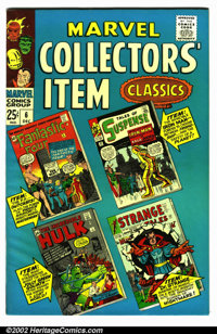 "Marvel Collectors Item Classics #6 (Marvel, 1966). Condition VF- . Note: The "" #6 "" is written on the spine..."