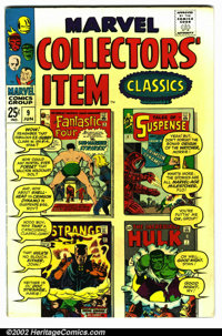 Marvel Collectors Item Classics #9 (Marvel, 1967). Condition VG+ . Note: slight discoloration on front cover