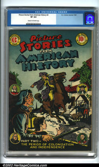 Picture Stories From American History #2 (EC, 1947). Condition: CGC VF 8.0, cream to off-white pages. Overstreet 2001 FN...