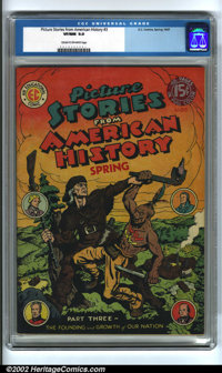 Picture Stories From American History #3 (EC, 1947). Condition: CGC VF/NM 9.0, cream to off-white pages. Overstreet 2001...